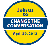 button reads JOIN US TO CHANGE THE CONVERSATION