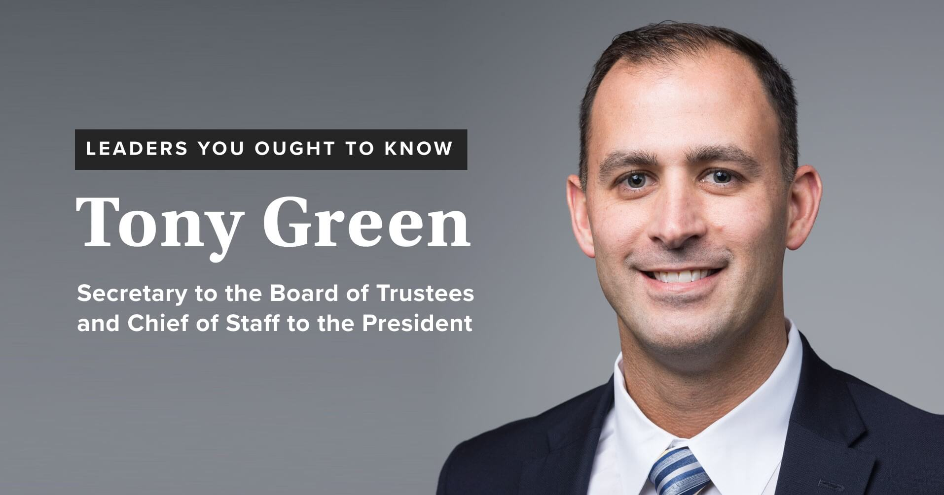 Leaders you ought to know: Tony Green
