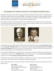 The George Hoyt Whipple Society & the George Eastman Circle