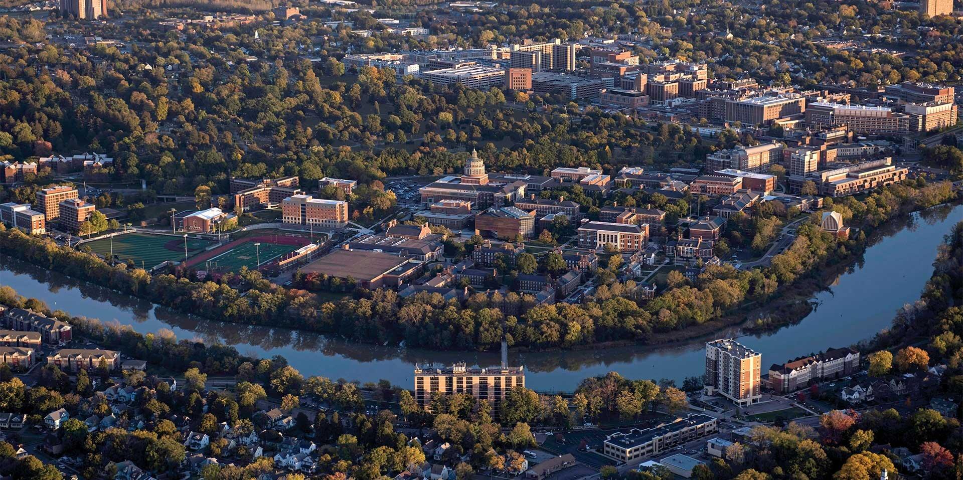 UR aerial campus image