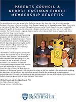 George Eastman Circle Parents Council Benefits