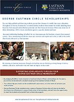 Eastman School of Music George Eastman Circle Scholarships