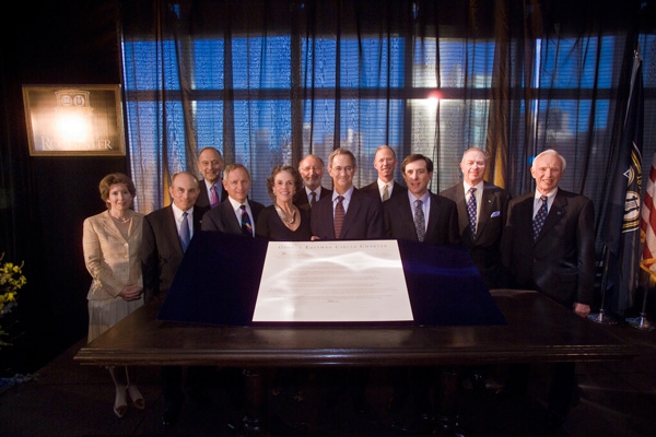 George Eastman Circle Charter Signing