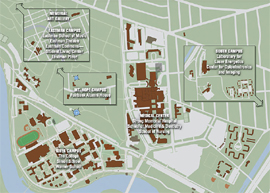 snapshop of a campus map