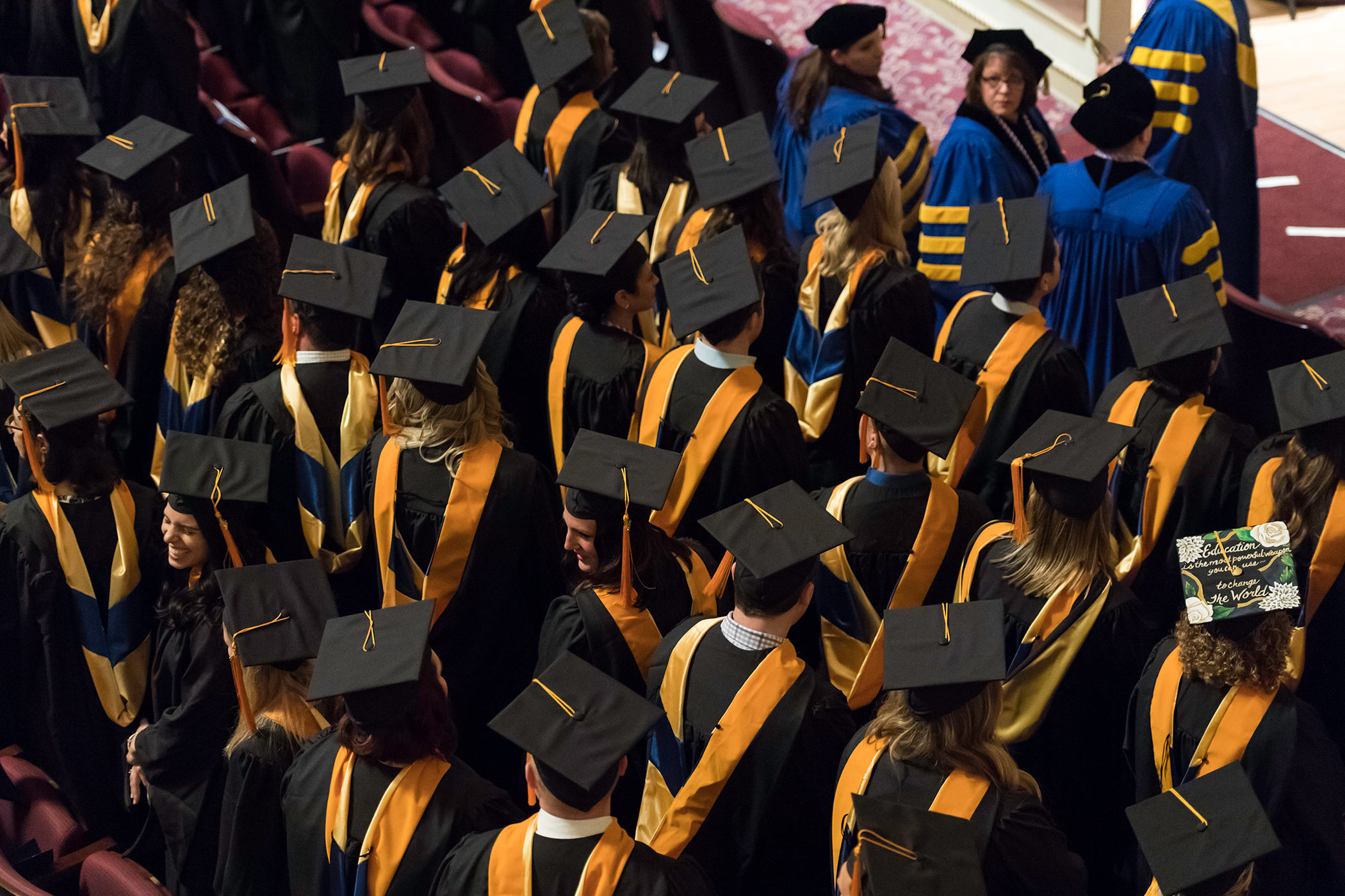 University of rochester graduates line up for the school of nursing commencement fandeluxe Images