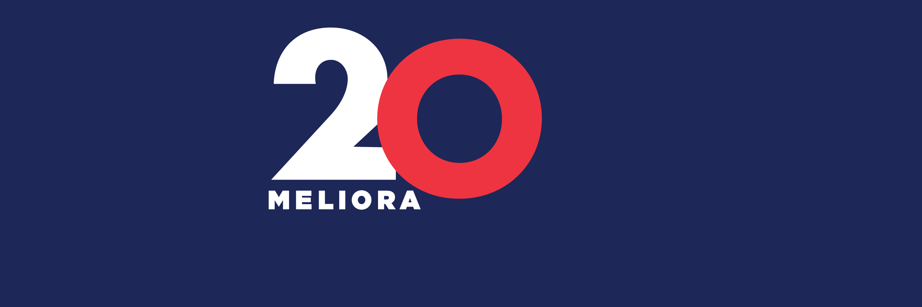 Meliora and the numbers 2 and 0 on a dark blue background