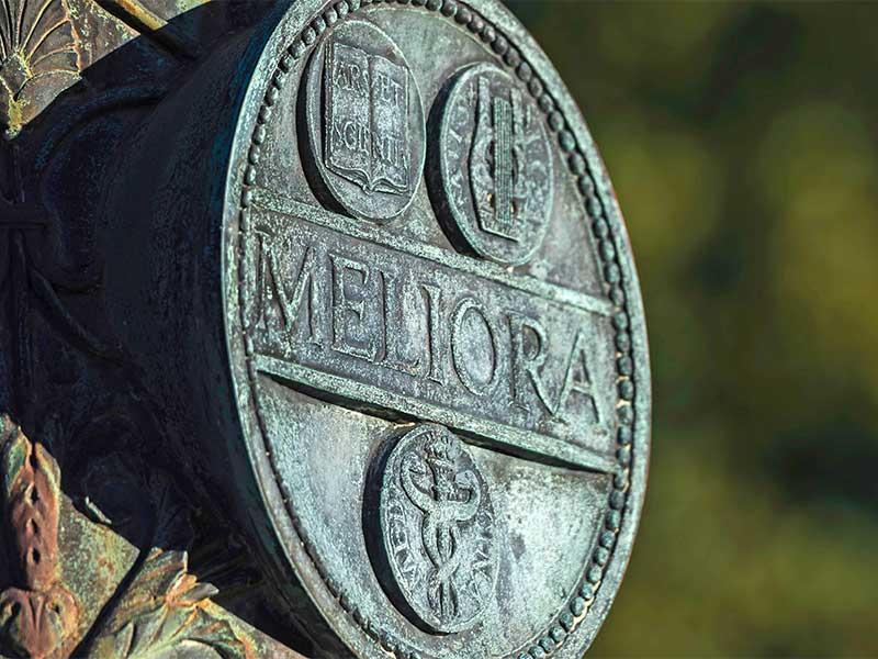 MELIORA shield on post