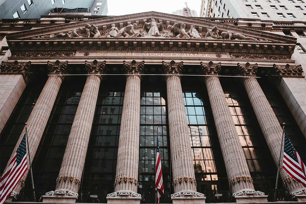 front of the new york stock exchange building