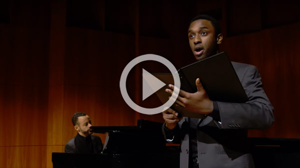 Tenor singing with a piano accompianist