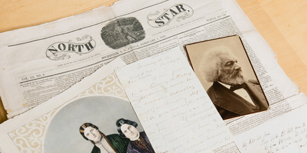 images of historic newspapers and letters