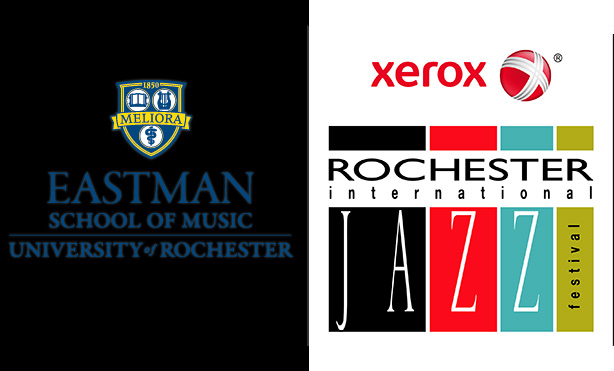 Eastman and jazz fest logos