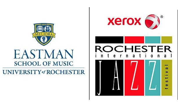 Eastman and jazz festival logos