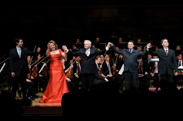 Renee Fleming on Kodak Hall stage with other performers