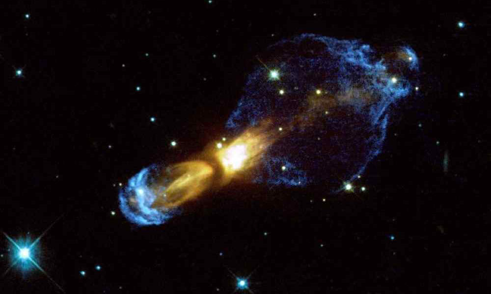 Hubble telescope image of the rotten egg nebula