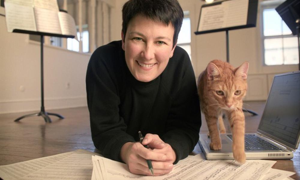composer Jennifer Higdon with her cat