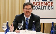 Robert Clark stresses need for federal research support at National Press Club