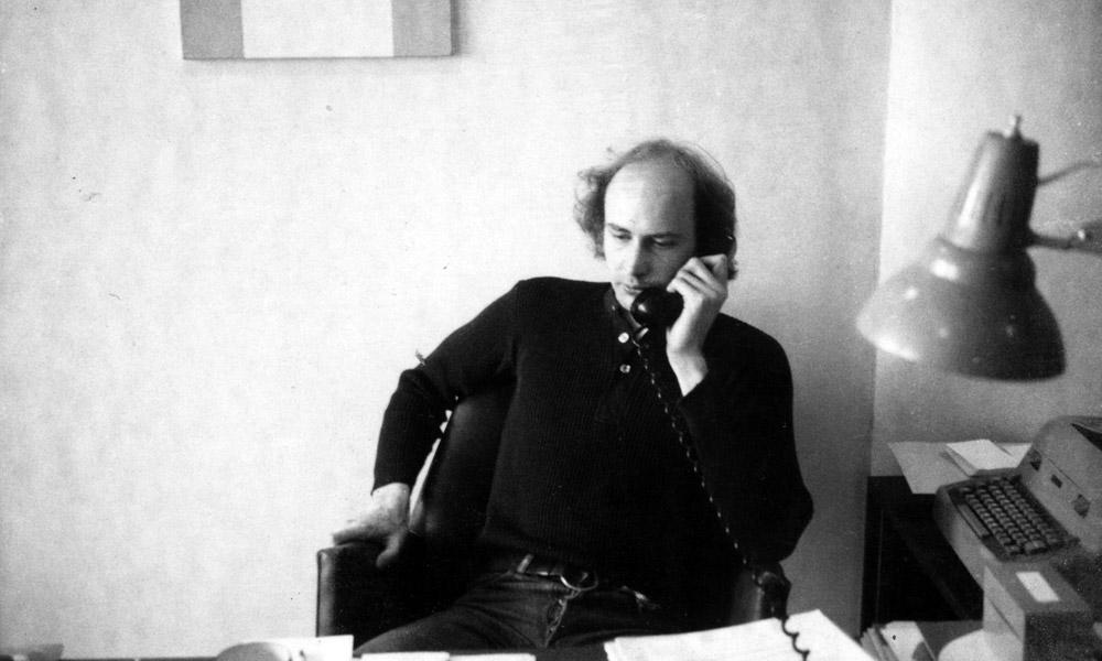 Douglas Crimp in his office