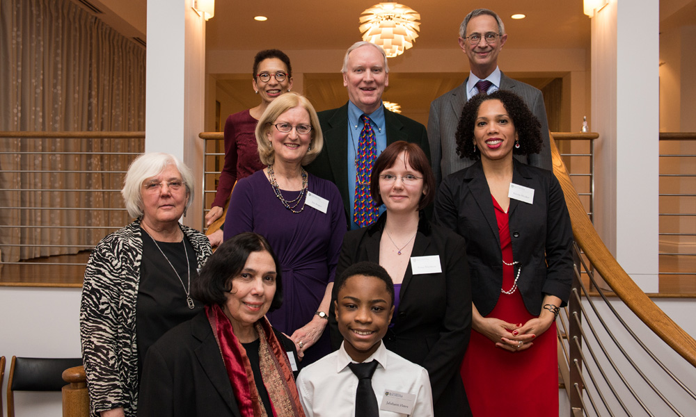 group portrait of Diversity Award winners with University leaders