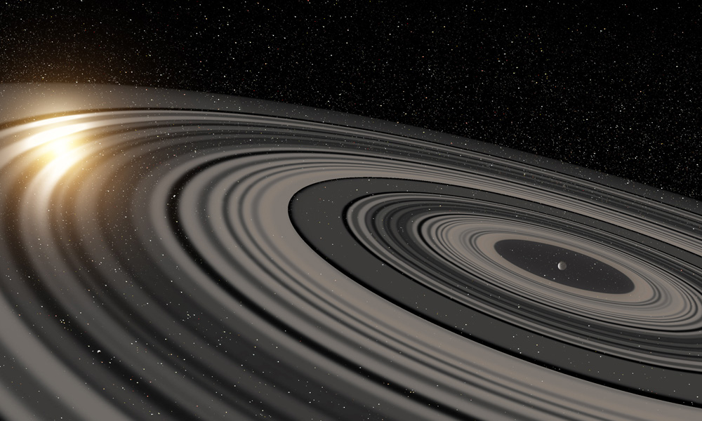 artist rendering of rings around a star