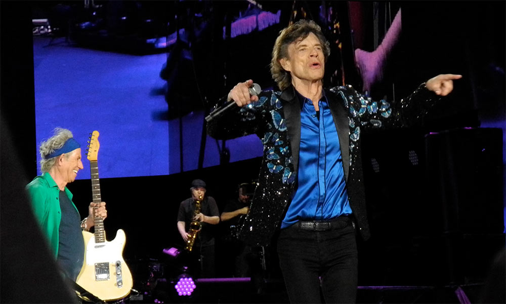 Mick Jagger and Keith Richards on stage