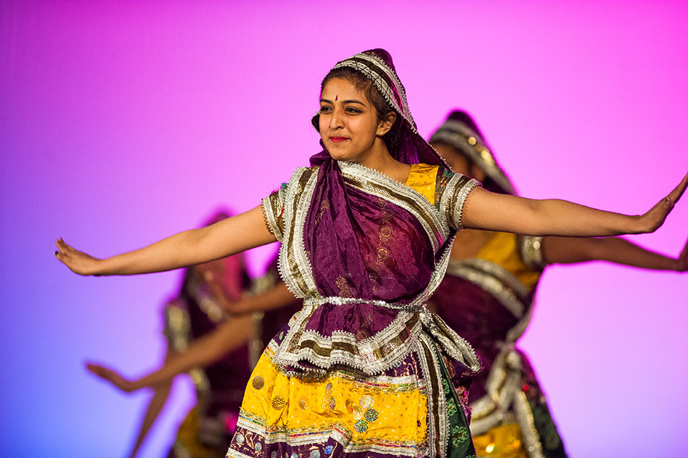 dancer in traditional Indian attire