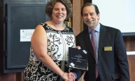 Laura Ballou honored for contributions to undergraduate learning