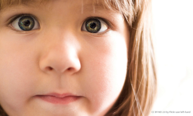 close-up image of child's face