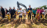 Turning shovels for a new center for autism care and outpatient imaging