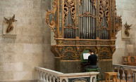 organist playing baroque organ