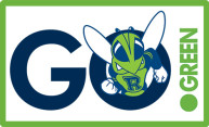 Go Green logo with Rocky mascot