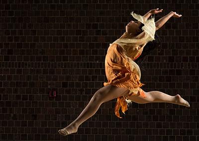 dancer wearing orange