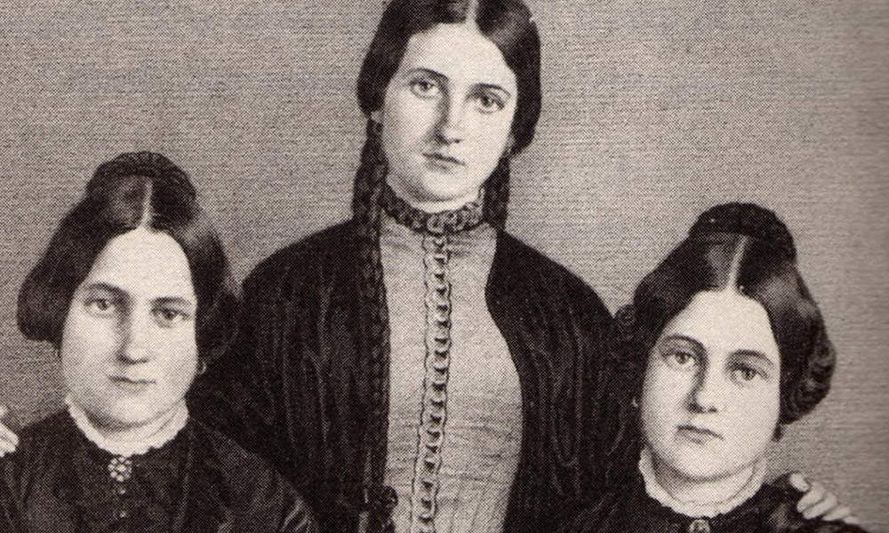 historical image of the three Fox sisters