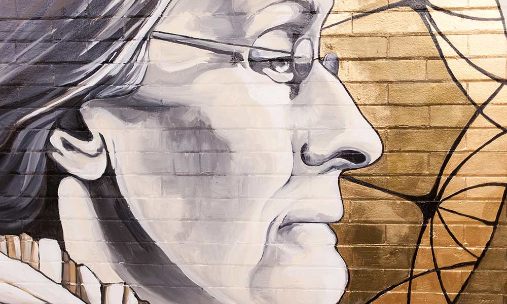 detail from painting of Susan B. Anthony