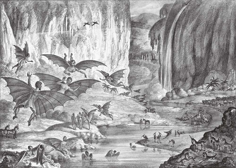 An 1830s hoax featuring animals supposedly seen on the moon.