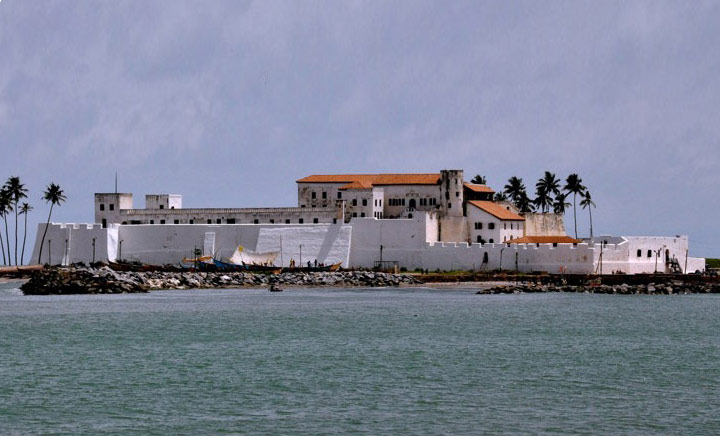 trade castle at Elmina, Ghana