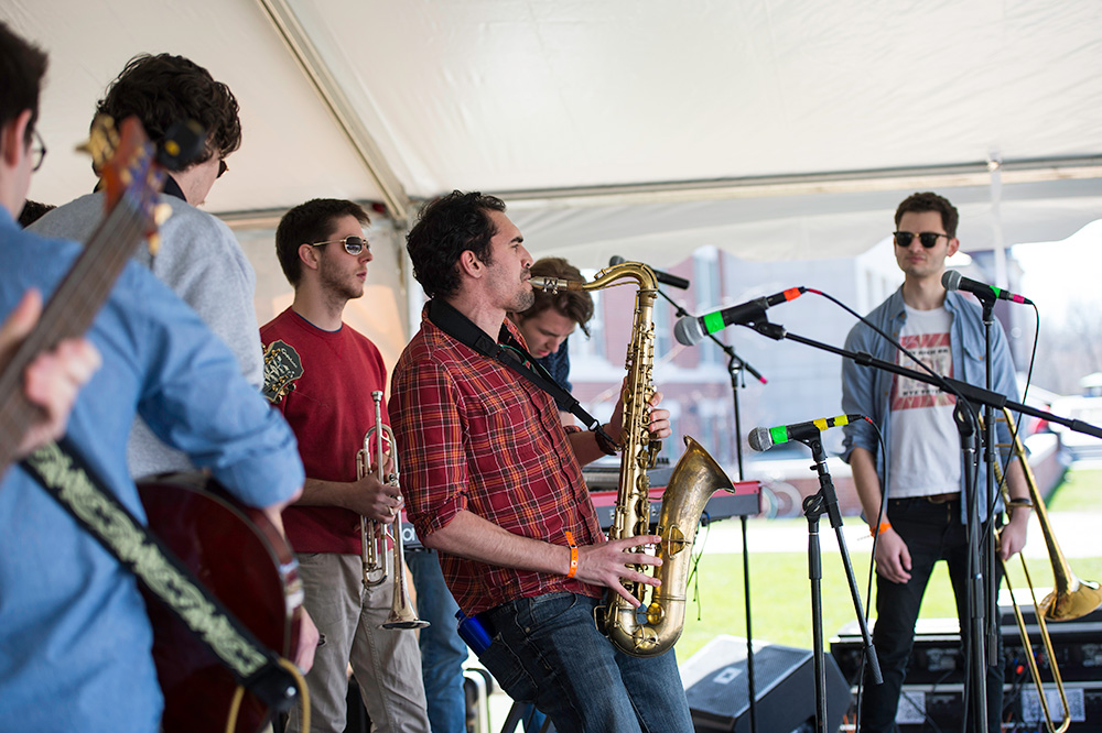 student band performs