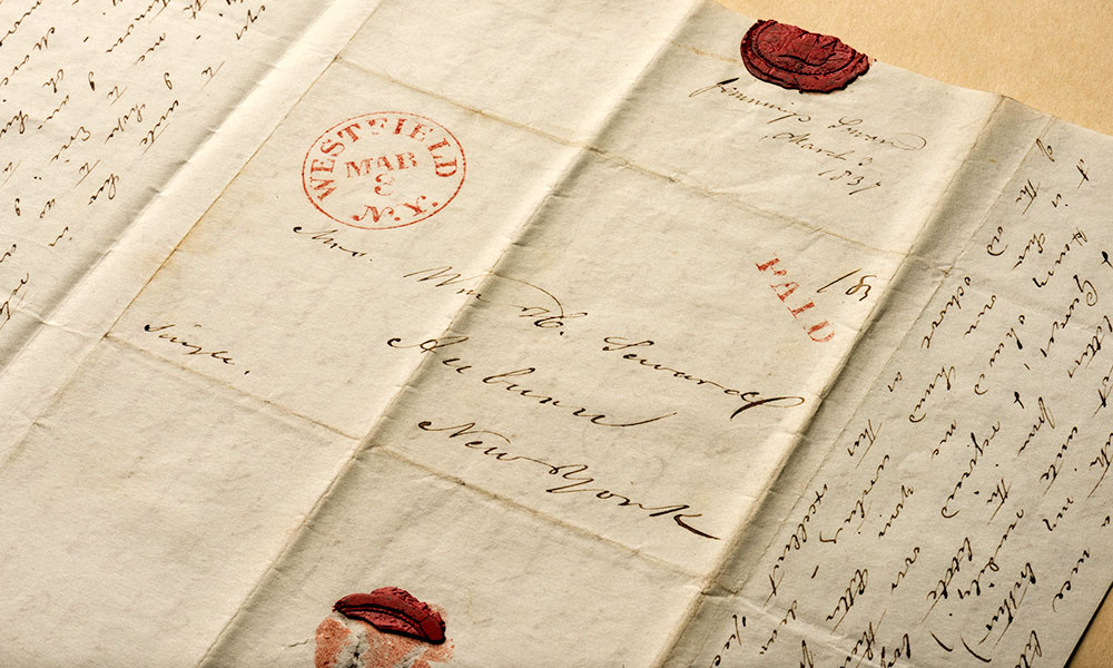 manuscript letter with wax seals