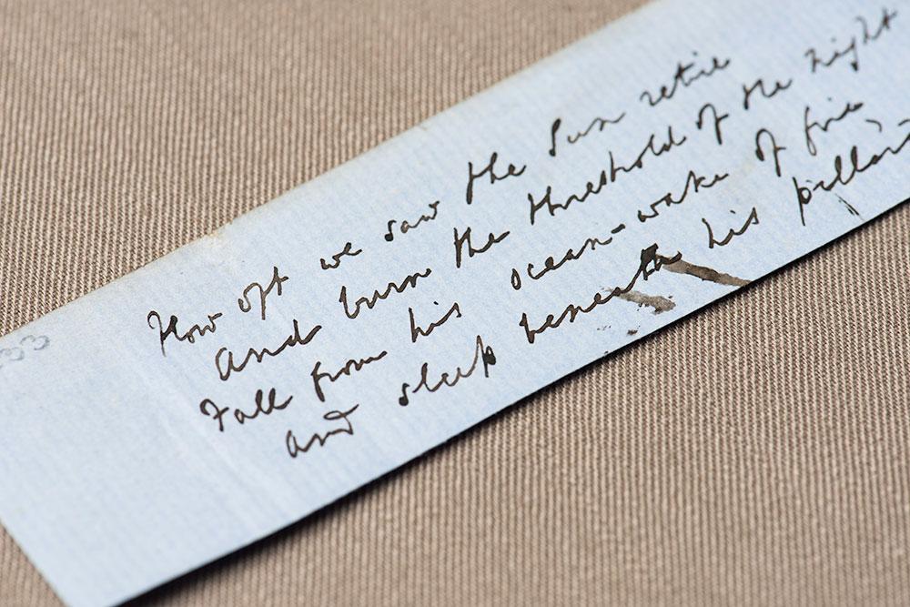 handwriting from Tennyson