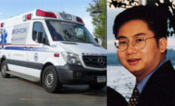 Zack Zheng and an ambulance