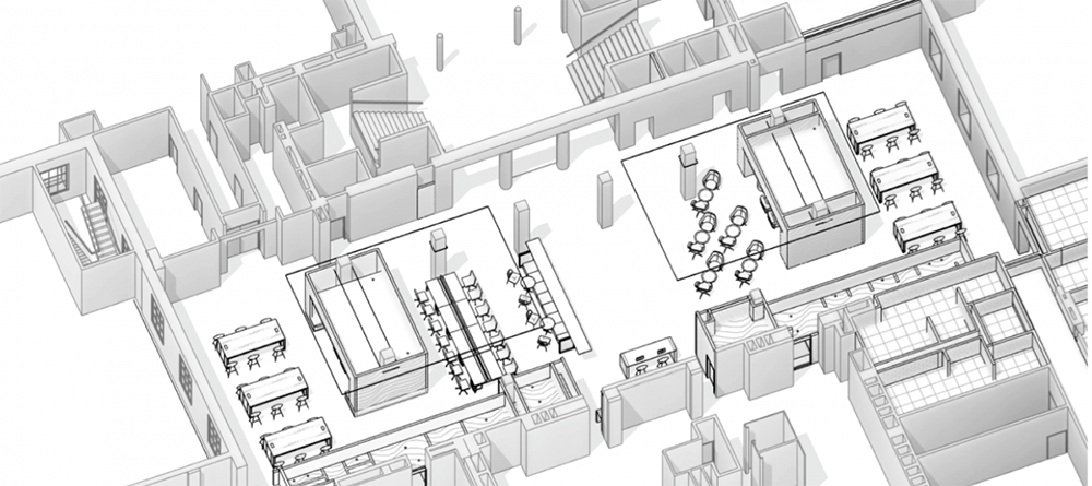artist rendering of Evans Lam Square