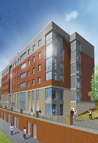 artist rendering of residence hall
