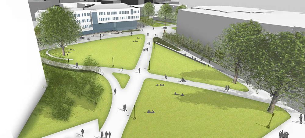artist rendering of new quad