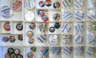 Political junkies can feast on Democratic Party campaign mementos