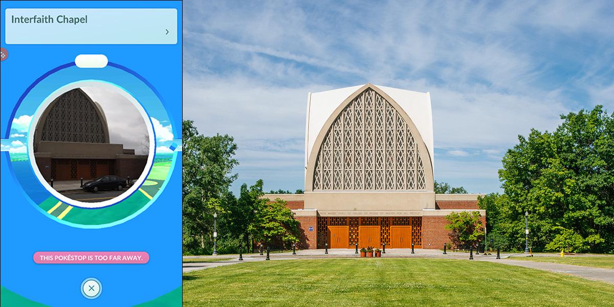 screenshot of Interfaith Chapel from Pokemon game