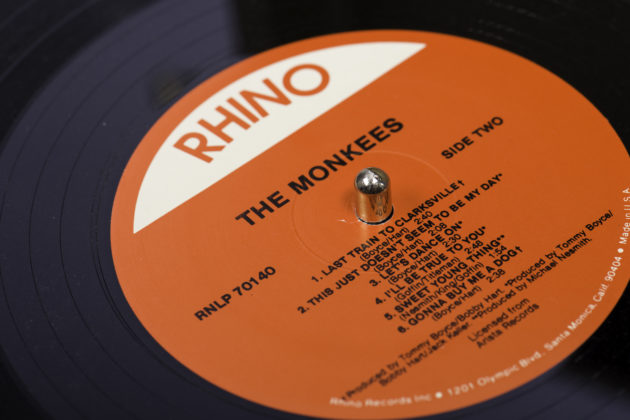 Collection of Monkees records photographed September 6, 2016 to illustrate University of Rochester story on the 50th anniversary of the debut of their NBC TV show. // photo by J. Adam Fenster / University of Rochester
