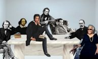 photo illustration of famous literary figures