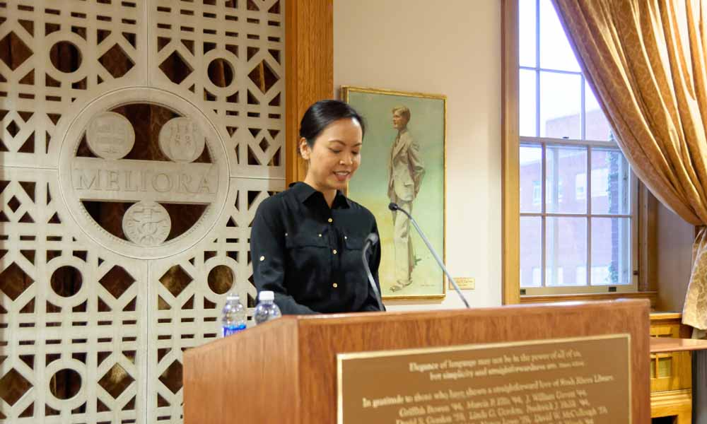 """Mia Alvar reading from """"In the Country."""""""