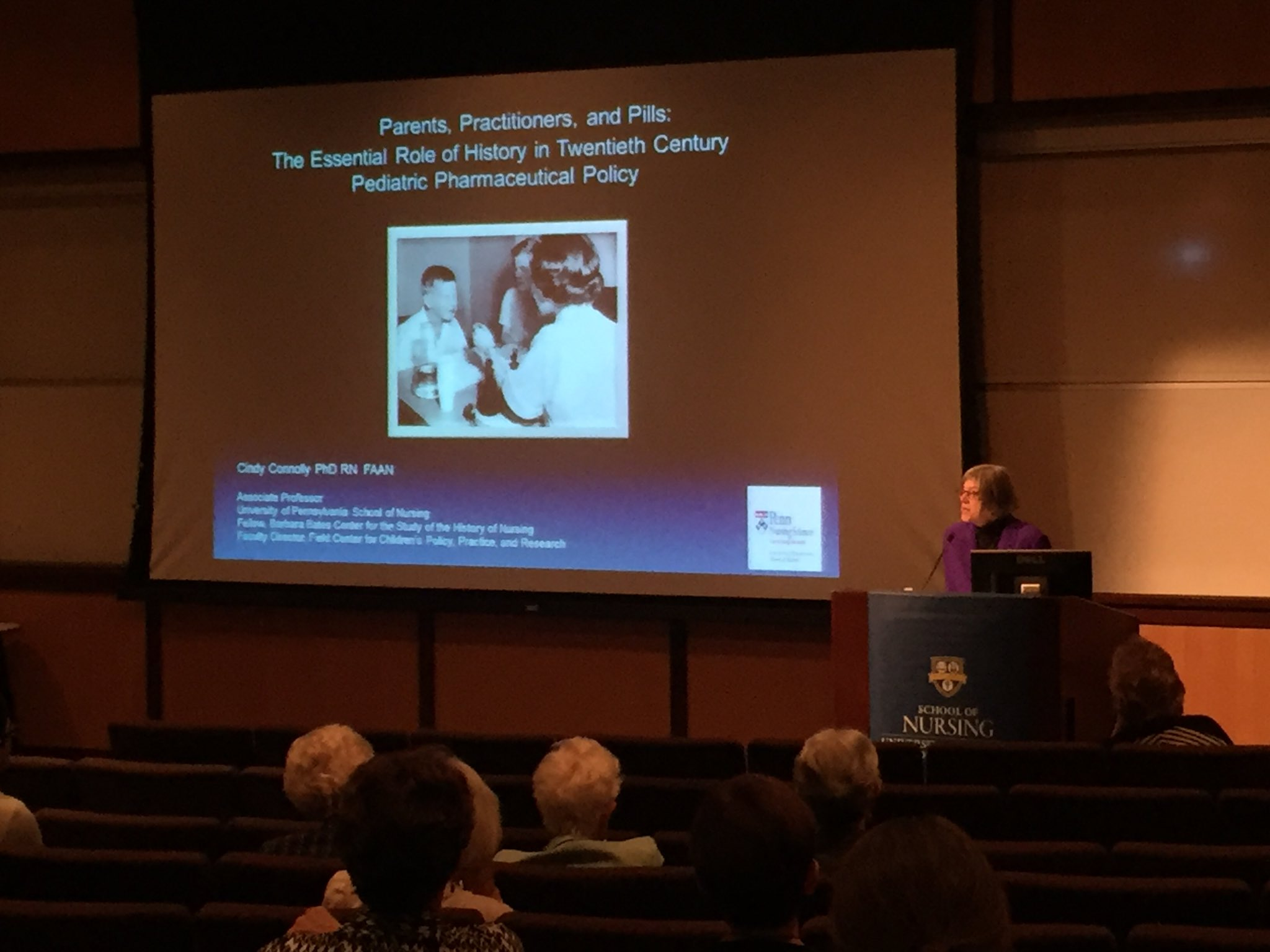 Cynthia Connolly '87N (MS) presents the Claire Dennison Lecture