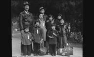 Japanese American family with luggage