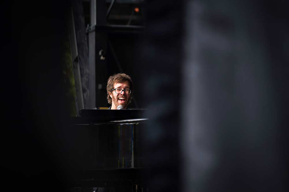 Ben Folds behind the piano